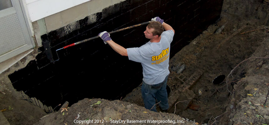 Exterior basement waterproofing staydry waterproofing Exterior basement waterproofing