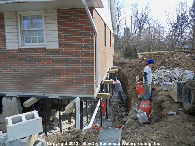 pontiac basement waterproofing staydry michigan